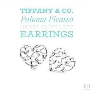 Tiffany & Co. Olive Leaf Heart Earrings